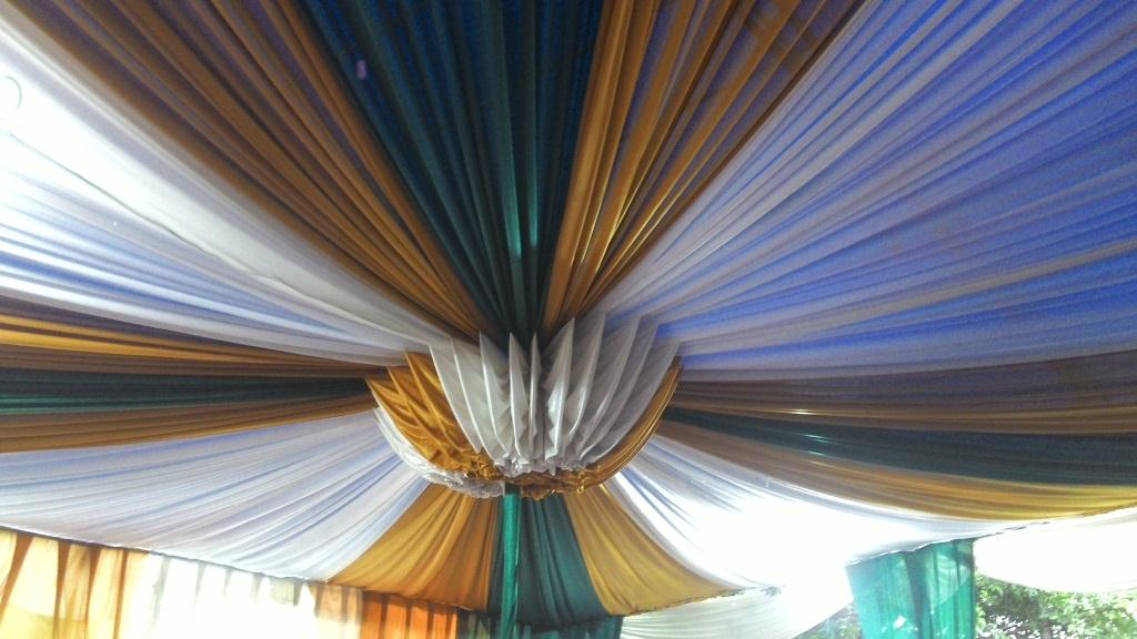 tenda balon gold, hijau, putih