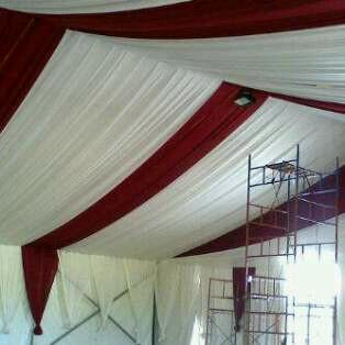 tenda salur putih, merah ati