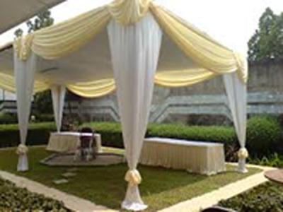 tenda semi dekor krem